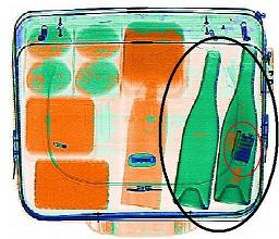 X Ray cihazı ile elde edilen çanta içi görüntü